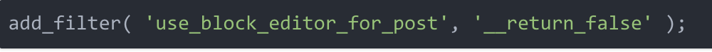 Disable Gutenberg interface with this one simple line of code